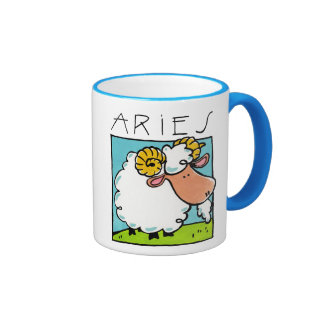 Cup the Aries Zodiac Ringer Mug