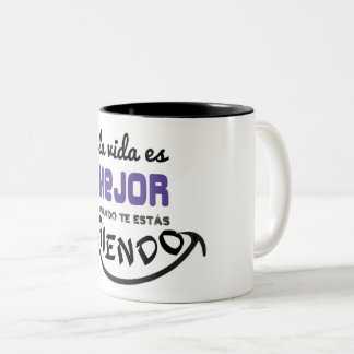 Cup, the life is better when you are laughing Two-Tone coffee mug