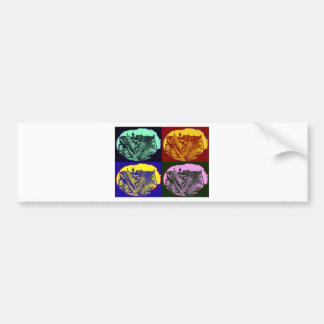 cup - town center 3 POINT perspective pop kind Bumper Sticker