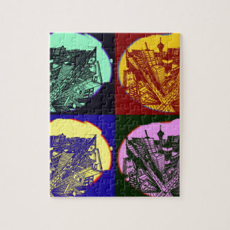 cup - town center 3 POINT perspective pop kind Jigsaw Puzzle
