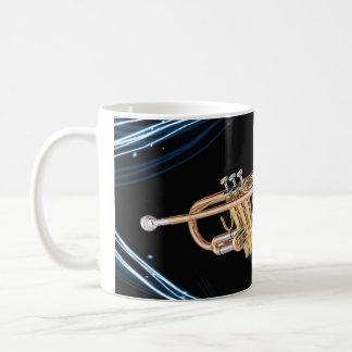Cup trumpet player basic white mug