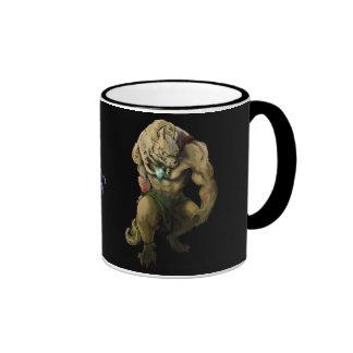 Cup vampira and man wolf ringer mug