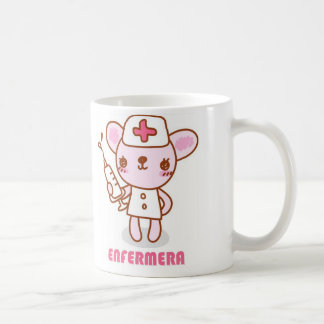 Cup with a drawing of a ratoncita nurse