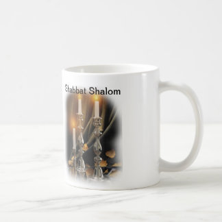 Cup with candles for Shabbat Basic White Mug