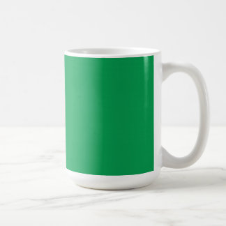 Cup with Grass Green Background Basic White Mug