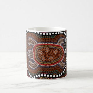 cup with turtle in aborigines style