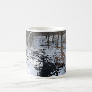 cup with winter forest