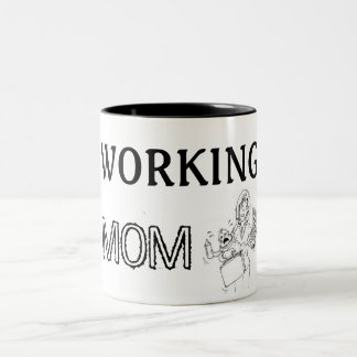 Cup Working Mom Two-Tone Mug