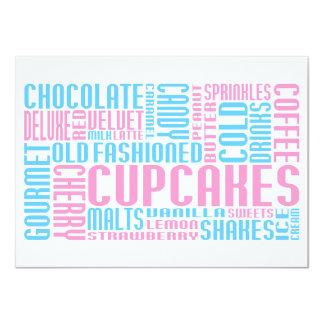 cupcak chitChat 4.5x6.25 Paper Invitation Card