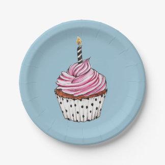 Cupcake 7 Inch Paper Plate