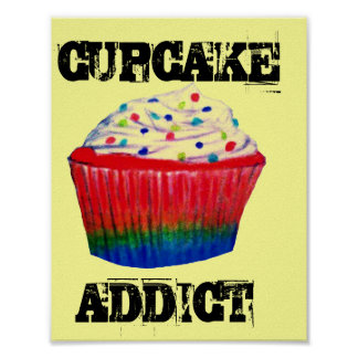 Cupcake Addict Poster