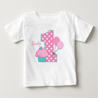 Cupcake and Balloons Baby T-Shirt