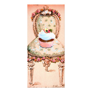 Cupcake and Chair Vintage Style Design Invitation Custom Rack Cards