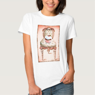Cupcake and Chair Vintage Style Womens Tee