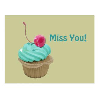 Cupcake and Cherry Postcard