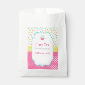 Cupcake and Sprinkles Favour Bag
