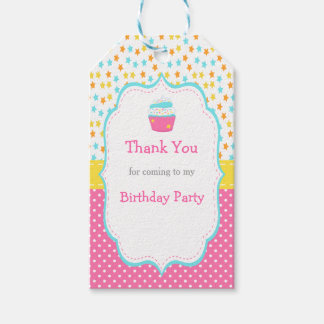 Cupcake and Sprinkles Gift Tag