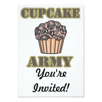Cupcake Army 13 Cm X 18 Cm Invitation Card