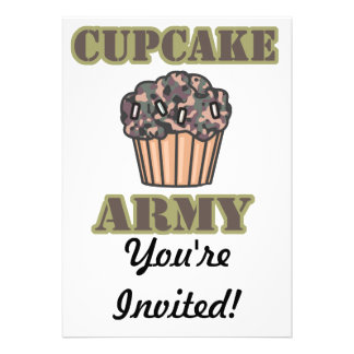 Cupcake Army Invitations