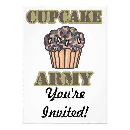 Cupcake Army Invitations