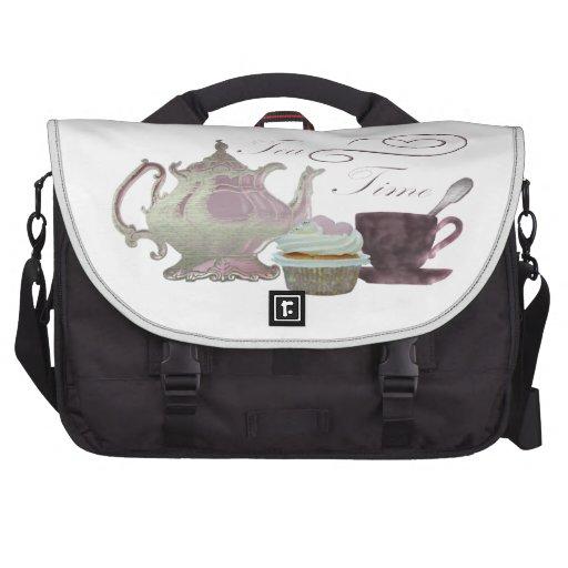 Cupcake art Messenger Bags Laptop Commuter Bag