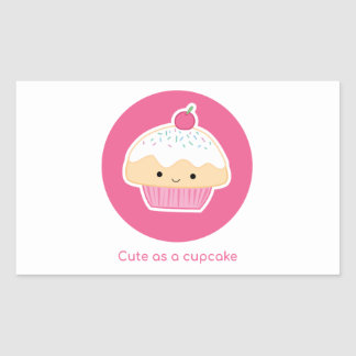 Cupcake, As cute as a cupcake Rectangular Sticker