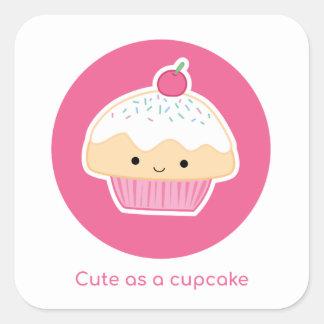 Cupcake, As cute as a cupcake Square Sticker