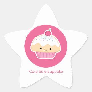 Cupcake, As cute as a cupcake Star Sticker
