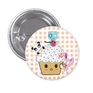 Cupcake Attack! (>_<) 3 Cm Round Badge