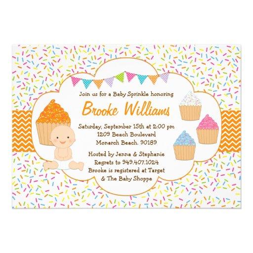 Baby Shower Cupcake Ideas Neutral : Cupcake Baby Sprinkle Shower Invitation Neutral 13 Cmx18 ...
