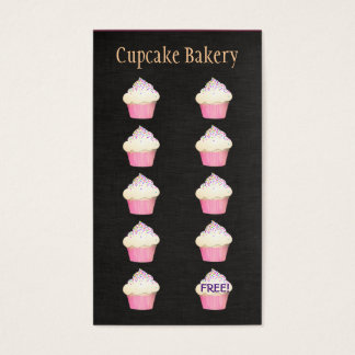 Cupcake Baker Bakery Customer Loyalty Punch