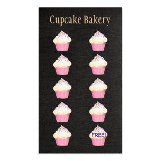 Cupcake Baker Bakery Customer Loyalty Punch Pack Of Standard Business Cards
