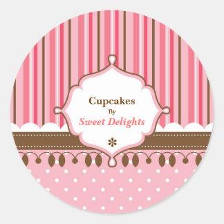 Cupcake Bakery Custom Classic Round Sticker