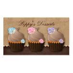 Cupcake Bakery Cute Flower Modern Pack Of Standard Business Cards