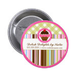 Cupcake Bakery Personalised Button