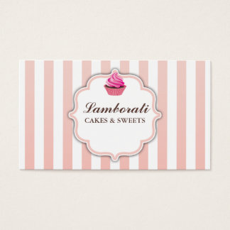 Cupcake Bakery Pink  Cute Elegant Modern