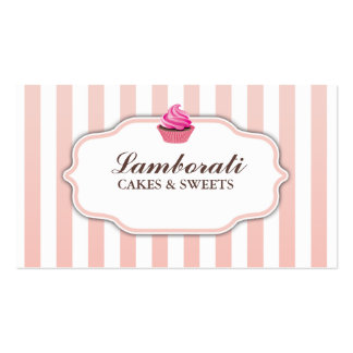 Cupcake Bakery Pink  Cute Elegant Modern Pack Of Standard Business Cards