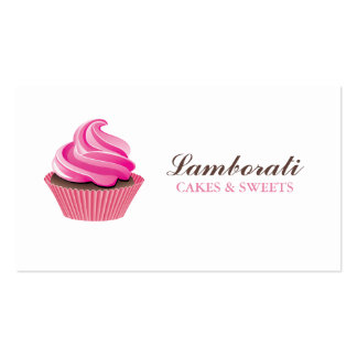 Cupcake Bakery Pink Elegant Modern Cute Pack Of Standard Business Cards