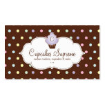 Cupcake Bakery Polka Dots Chocolate Mauve Business Card