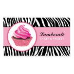 Cupcake Bakery Zebra Print Pink Elegant Modern