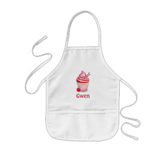 Cupcake Baking Apron - personalized - pink - child