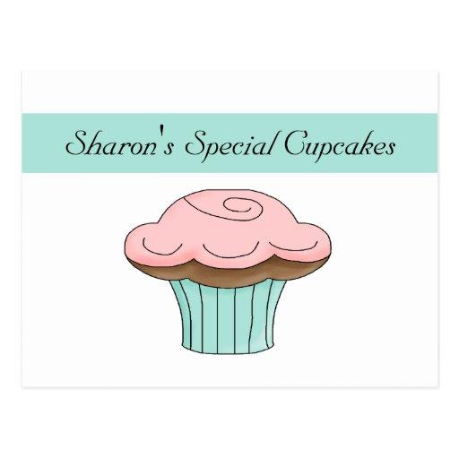 Cupcake Baking Recipe Card Post Card