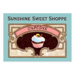 Cupcake Banner Shop Sign Pack Of Chubby Business Cards