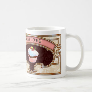 Cupcake Banner Victorian Style Classic White Coffee Mug
