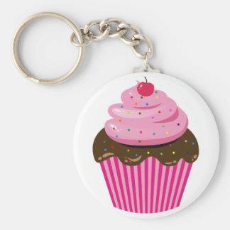 Cupcake Basic Round Button Key Ring