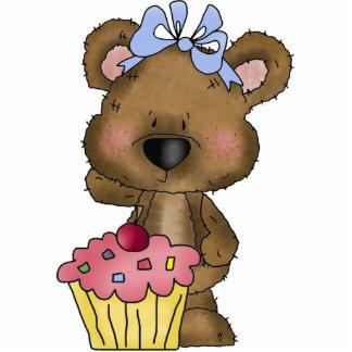Cupcake Bear Sculpture Standing Photo Sculpture