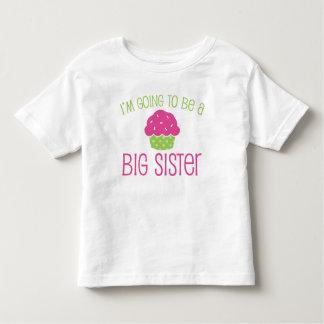 Cupcake Big Sister to Be Tee Shirt
