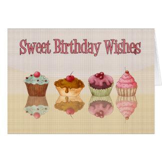 Cupcake Birthday Card - Sweet Birthday Wishes