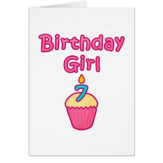 Cupcake Birthday Girl 7 Card