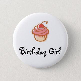 cupcake, Birthday Girl - Customized 6 Cm Round Badge